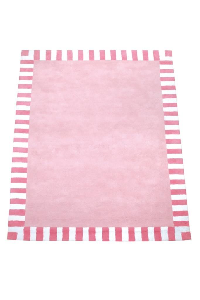 annette frank teppich rosa mit streifenrand. Black Bedroom Furniture Sets. Home Design Ideas