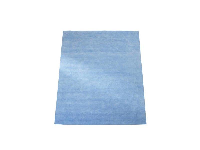 Annette Frank Teppich uni hellblau 140 x 200 cm