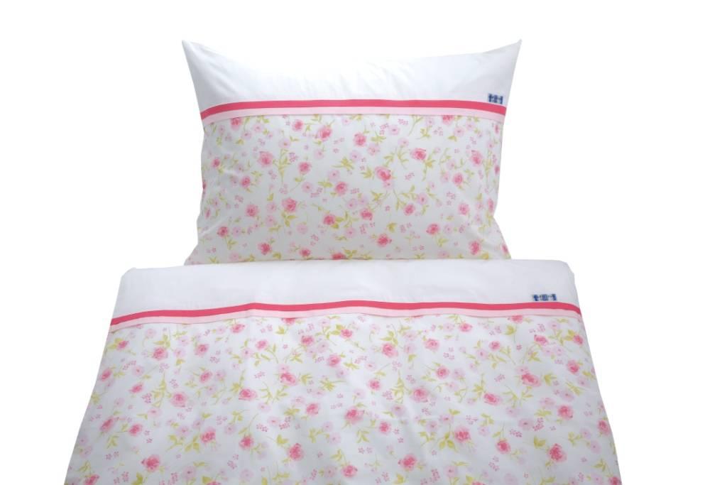 annette frank bettw sche classic rosen rosa gr n. Black Bedroom Furniture Sets. Home Design Ideas