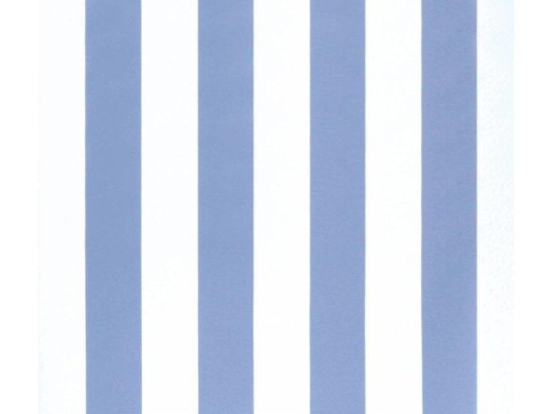 Annette Frank Abwischbare Venyltapete Midistreifen 6,7 cm stahlblau
