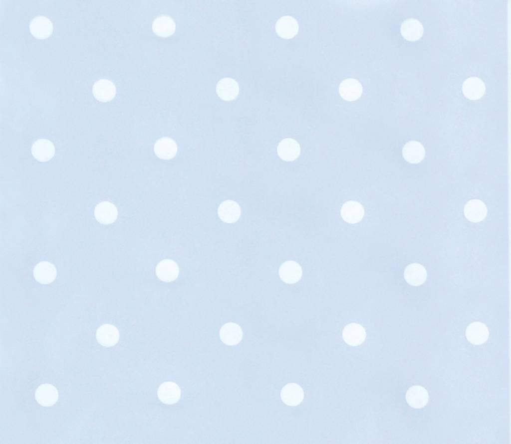 Annette frank tapete dots hellblau weiss for Tapete hellblau