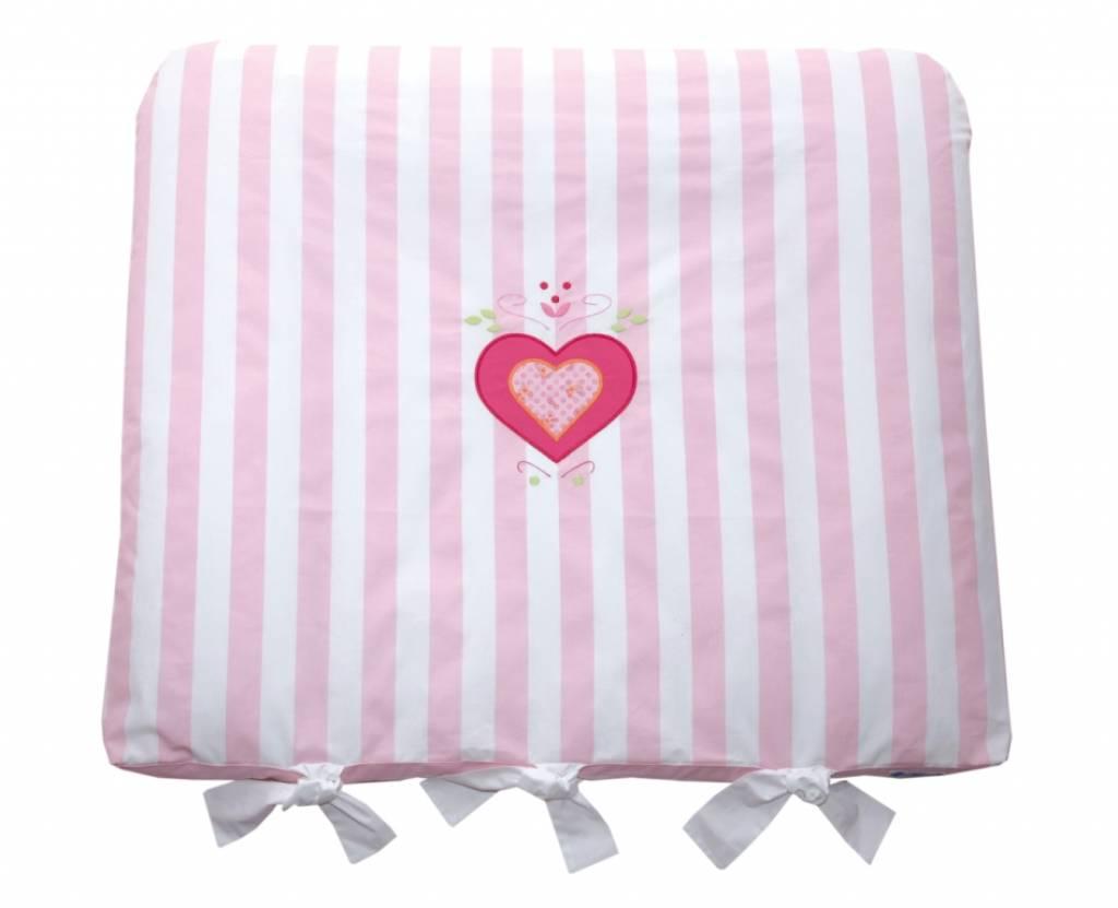annette frank wickelauflage maxistreifen rosa mit herz 80 x 70 cm. Black Bedroom Furniture Sets. Home Design Ideas