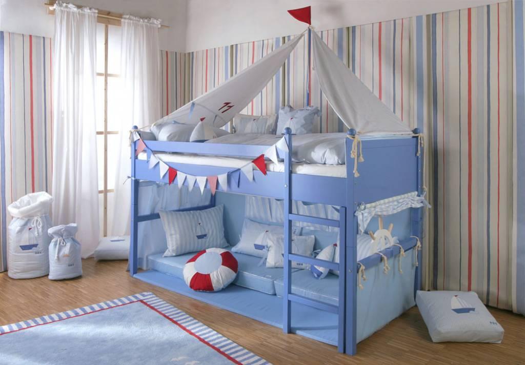 annette frank spielbett segelboot wei. Black Bedroom Furniture Sets. Home Design Ideas