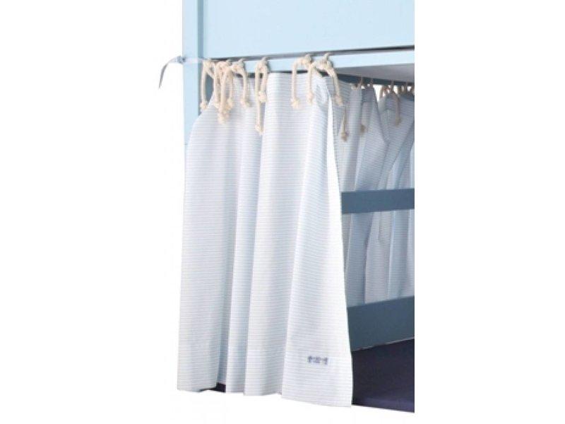 Annette Frank Vorhang Spielbett Streifen blau 120 x 80 cm