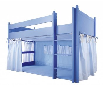 Annette Frank Vorhang Spielbett hellblau 120 x 80 cm