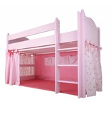 Annette Frank Vorhang Spielbett rosa-grün 120 x 80 cm