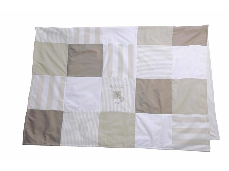 Annette Frank Patchworkdecke Seestern beige 100 x 140 cm
