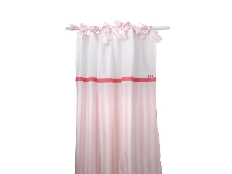 Annette Frank Vorhangschal Herz Maxistreifen rosa 150 x 250 cm