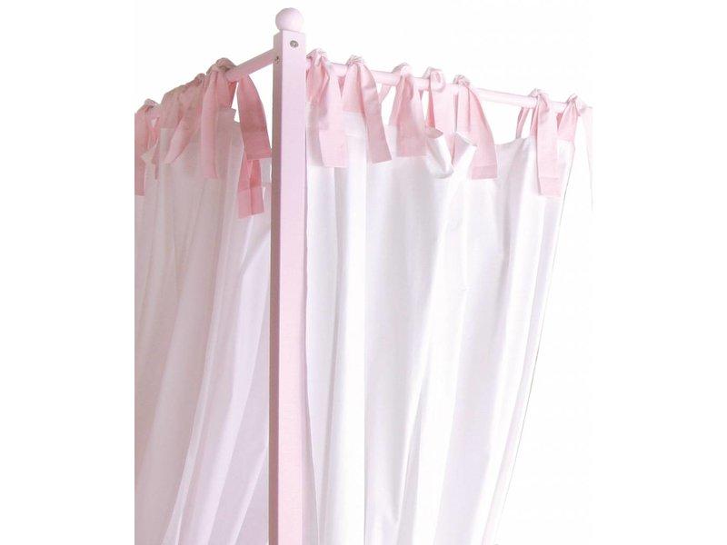 Annette Frank Alkoven für Himmelbett 90 x 200 Iside weiß-rosa