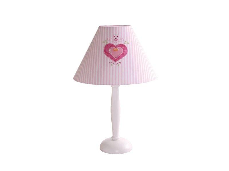 Annette Frank Tischlampe Herz rosa groß