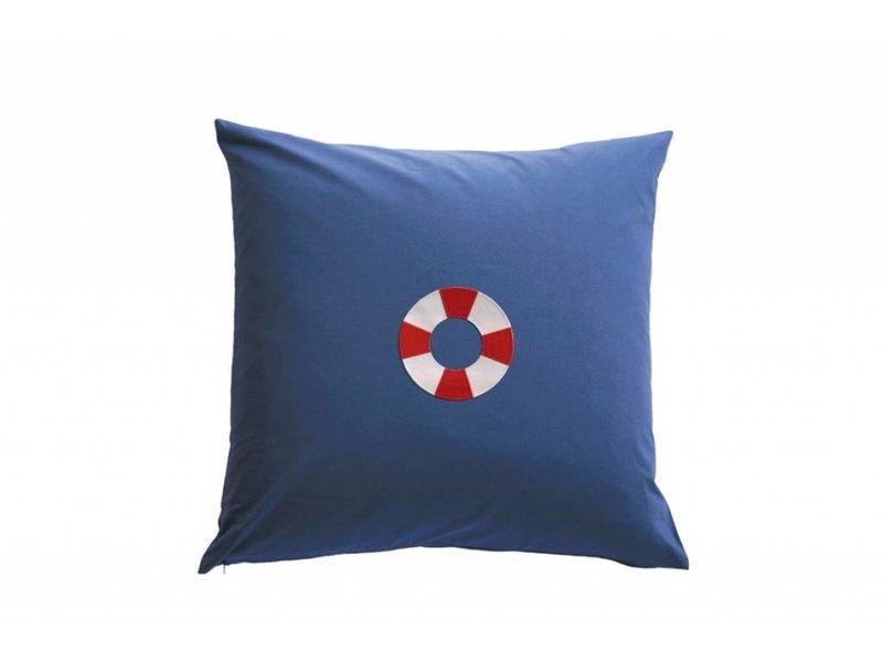 Annette Frank Paradekissen Rettungsring dunkelblau 60 x 60 cm