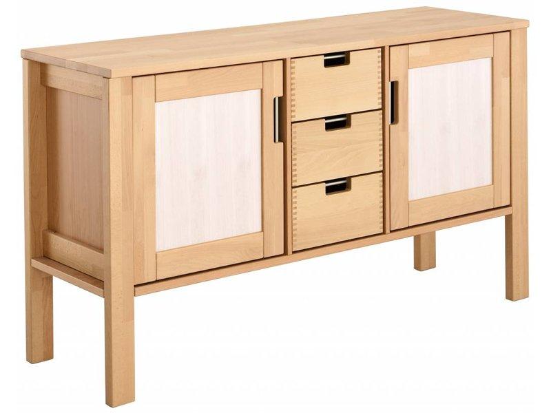 haba matti kommode 2 tuerig buche natur. Black Bedroom Furniture Sets. Home Design Ideas