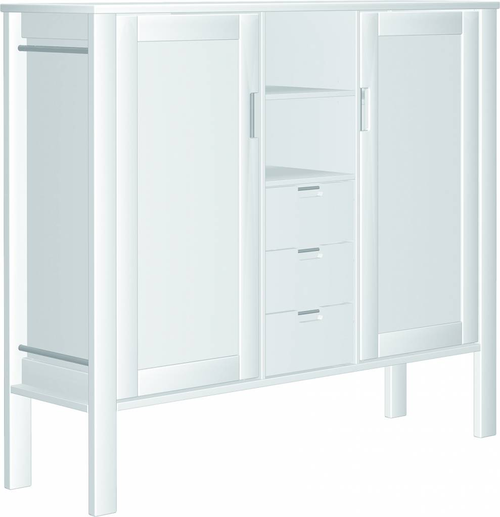 haba matti kommode 2 t rig 3 schubkasten hoch weiss. Black Bedroom Furniture Sets. Home Design Ideas
