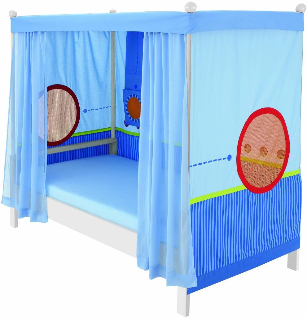haba matti aufr stsatz himmelbett weiss holzgestell stoff. Black Bedroom Furniture Sets. Home Design Ideas