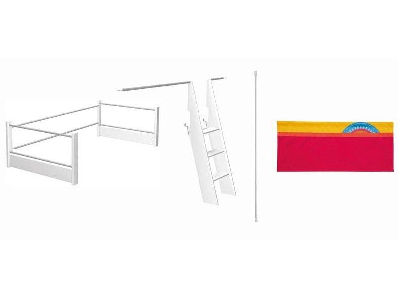 haba matti aufr stsatz spielbett rosa rot blau. Black Bedroom Furniture Sets. Home Design Ideas