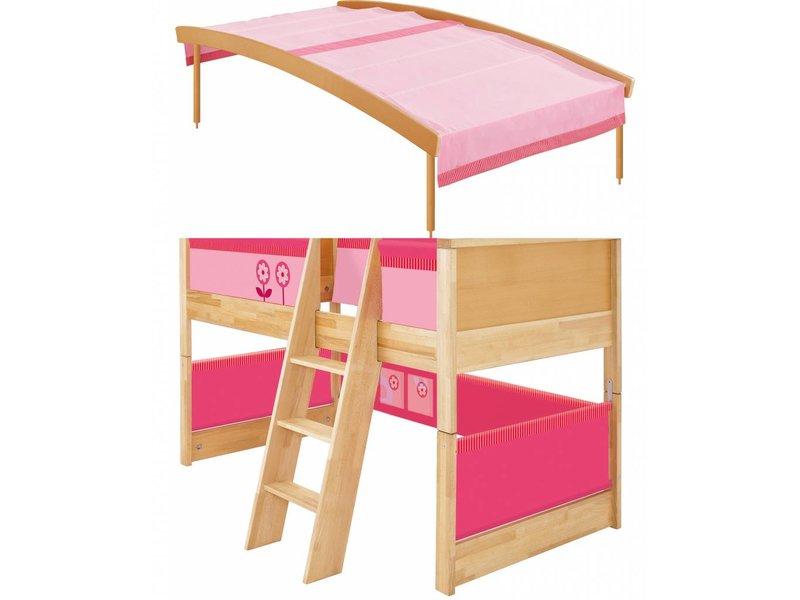 Etagenbett Haba : Haba matti hochbett mit bogen buche rosa romy kindermoebel