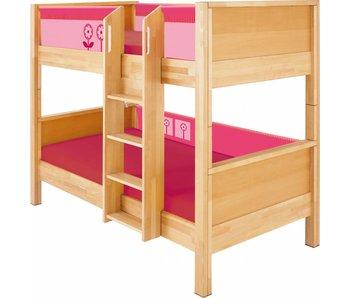 haba matti hochbett mit bogen buche rosa. Black Bedroom Furniture Sets. Home Design Ideas