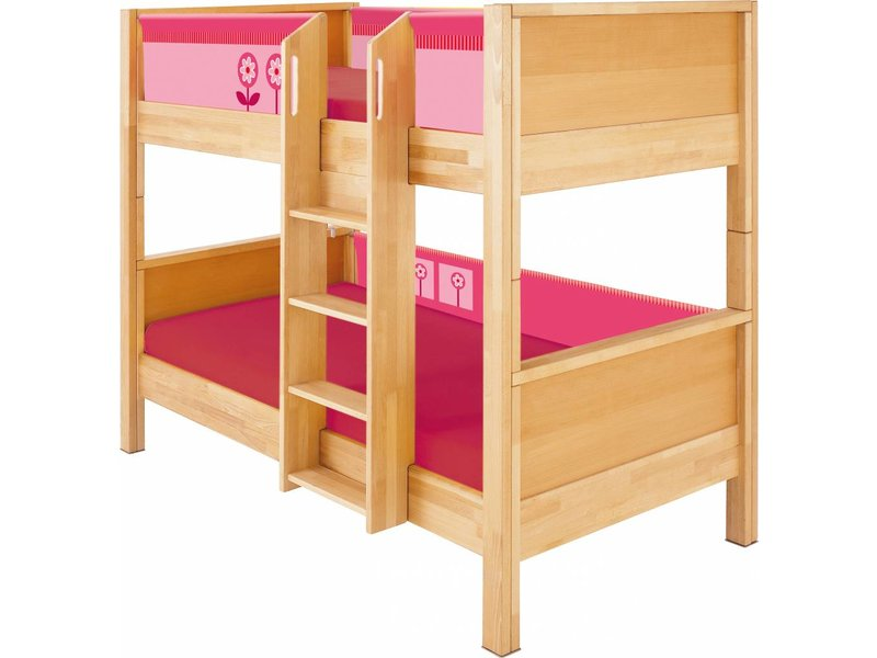 Etagenbett Haba : Haba matti etagenbett komplett buche rosa romy kindermoebel