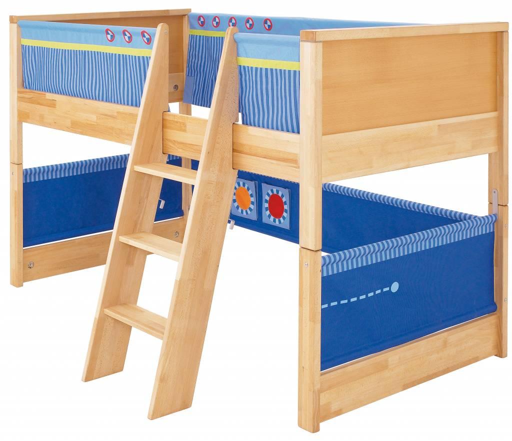 haba matti spielbett komplett buche blau. Black Bedroom Furniture Sets. Home Design Ideas