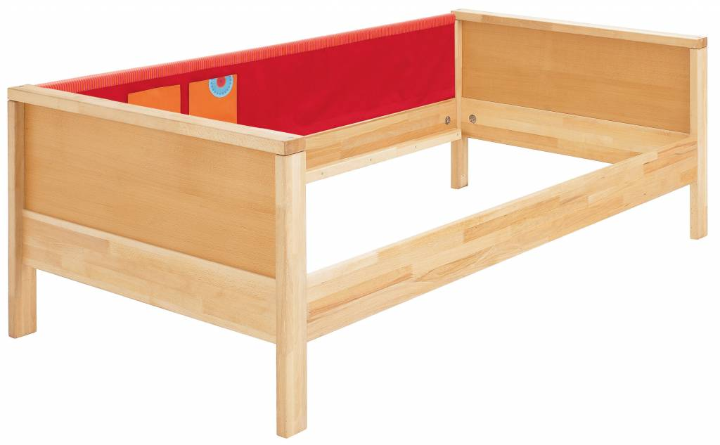 haba matti bett matti mit giebel buche rot. Black Bedroom Furniture Sets. Home Design Ideas
