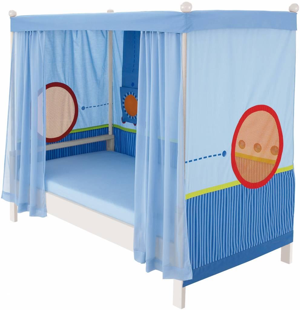 haba matti matti himmelbett buche wei blau. Black Bedroom Furniture Sets. Home Design Ideas