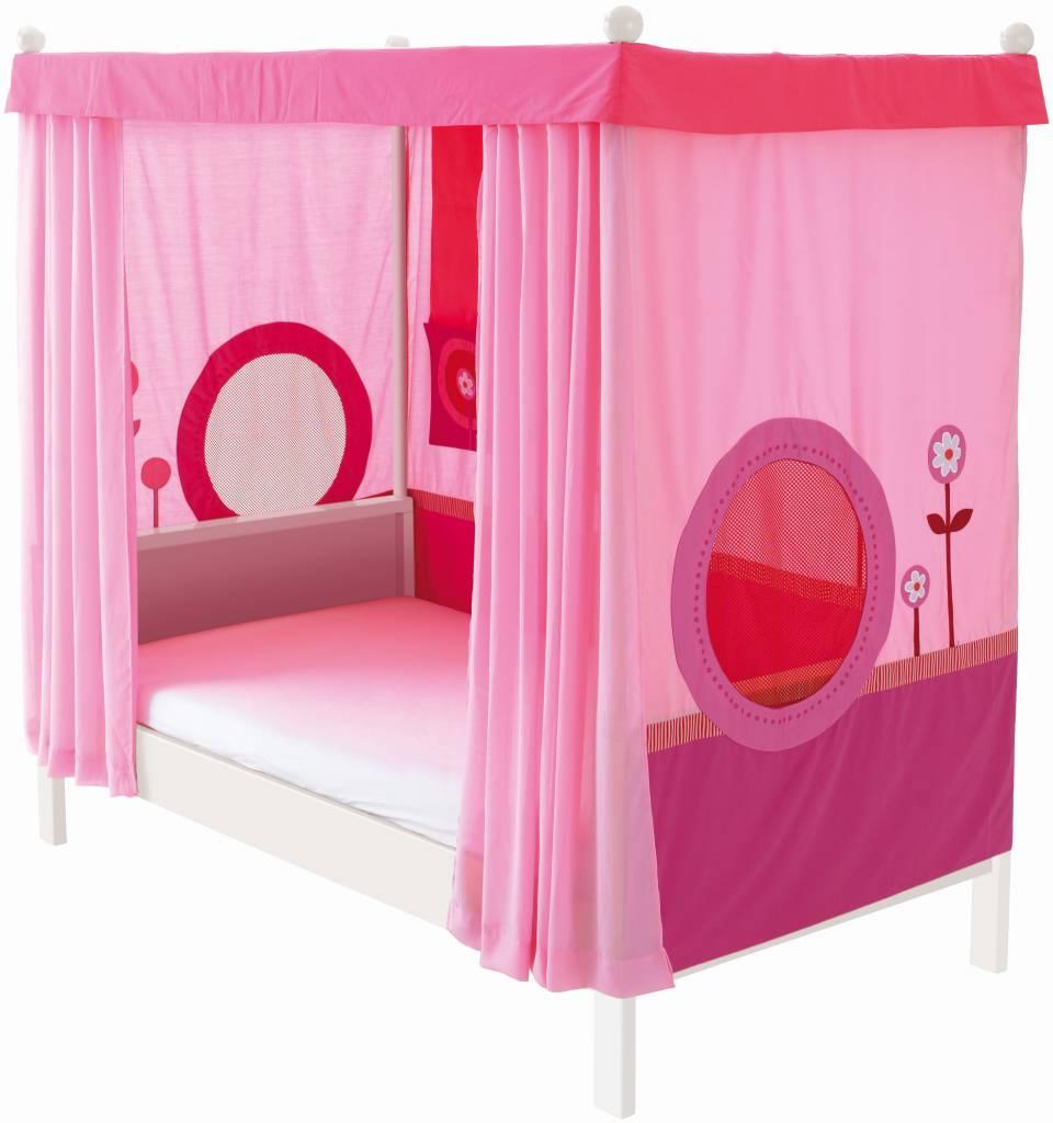 haba matti matti himmelbett buche wei rosa. Black Bedroom Furniture Sets. Home Design Ideas
