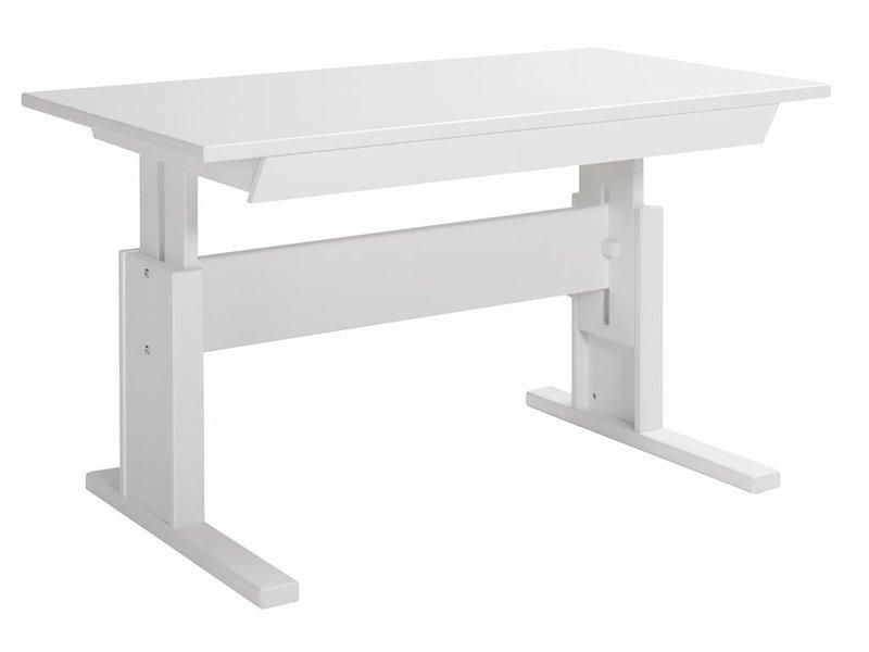 Schreibtisch holz weiß  LIFETIME Höhenverstellbarer Schreibtisch 120 weiß - www.romy ...