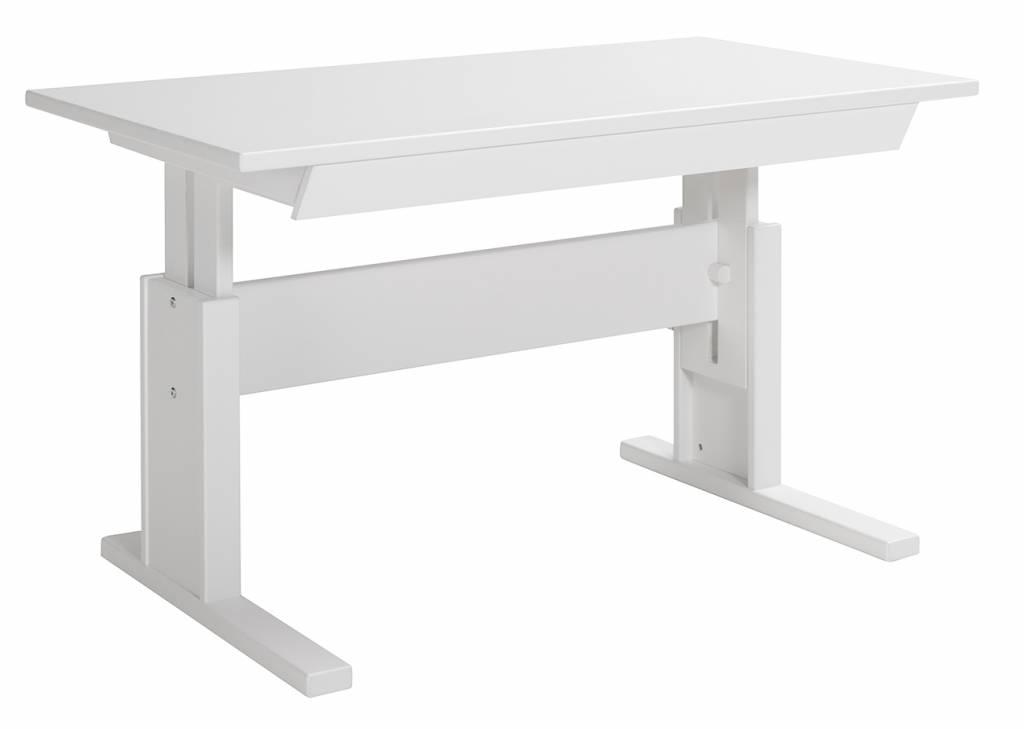 Schreibtisch holz klein  LIFETIME Höhenverstellbarer Schreibtisch 120 weiß - www.romy ...