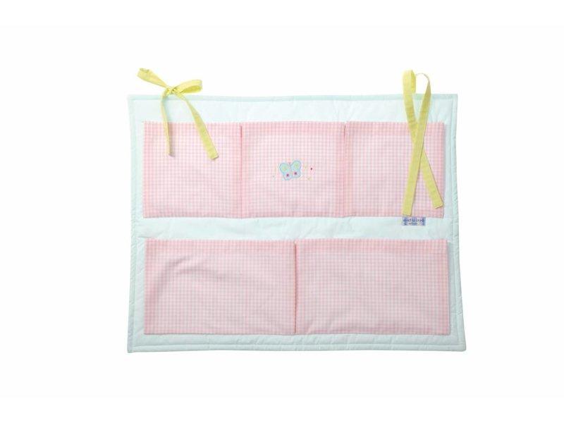 Annette Frank Utensilo für Babybett Schmetterling rosa-hellblau 55 x 70 cm