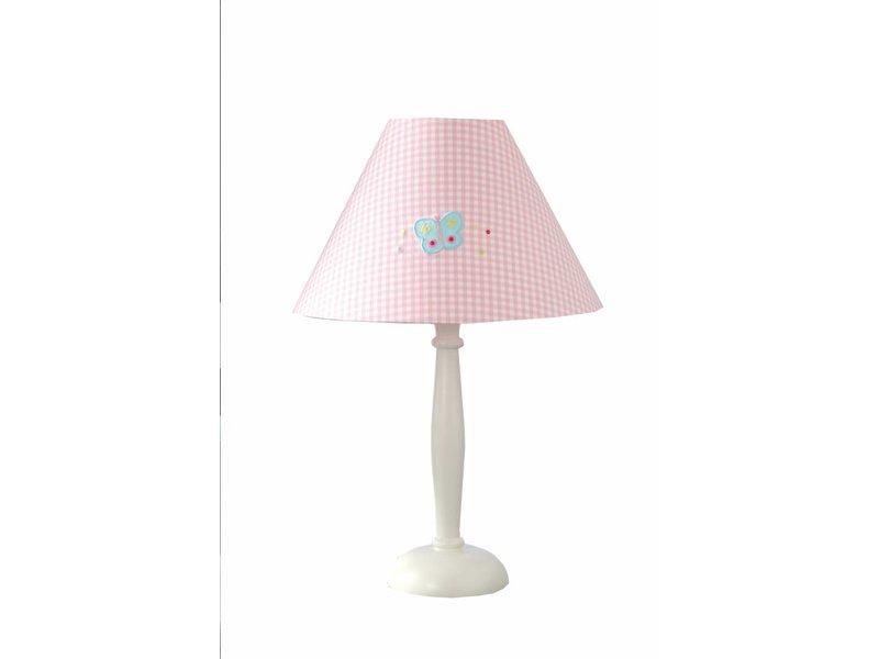 Annette Frank Tischlampe Schmetterling rosa gross