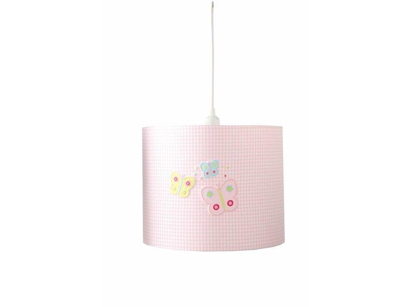Annette Frank Hängelampe Schmetterling rosa
