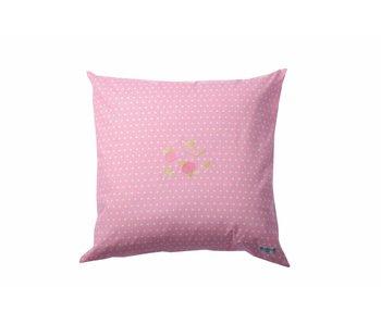 Annette Frank Paradekissen Punkte pink 60 x 60 cm