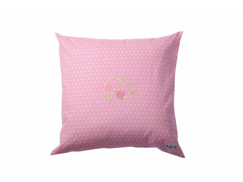 Annette Frank Paradekissen Rosen Punkte pink 60 x 60 cm