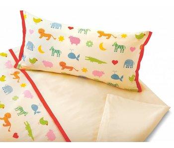cotonea Satin- Kinderbettwäsche Arche Noah
