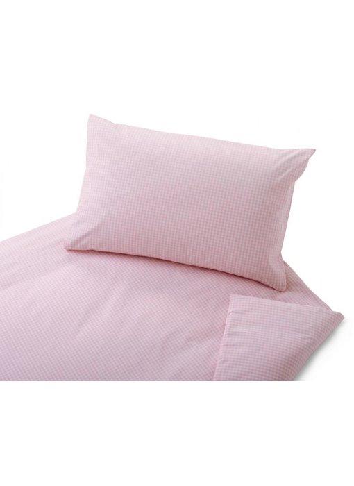 cotonea Satin- Kinderbettwäsche Vichy rosa