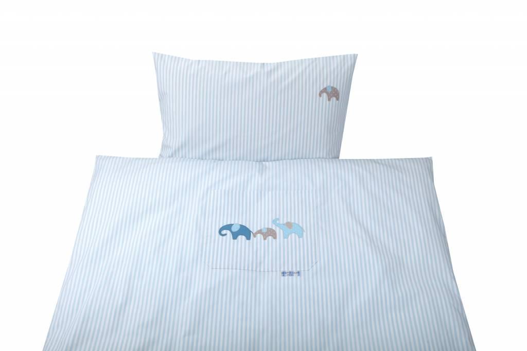 annette frank bettw sche uni streifen lagune blau. Black Bedroom Furniture Sets. Home Design Ideas