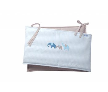 Annette Frank Bettnest Baby Elefant blau