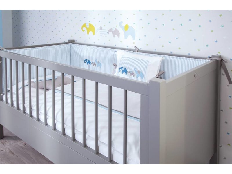 Annette Frank Bettnest Baby Elefant blau 70 x 140 cm