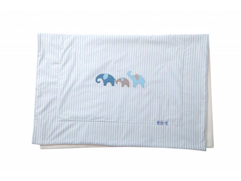 Annette Frank Kuscheldecke Elefant lagune-blau 75 x 105 cm