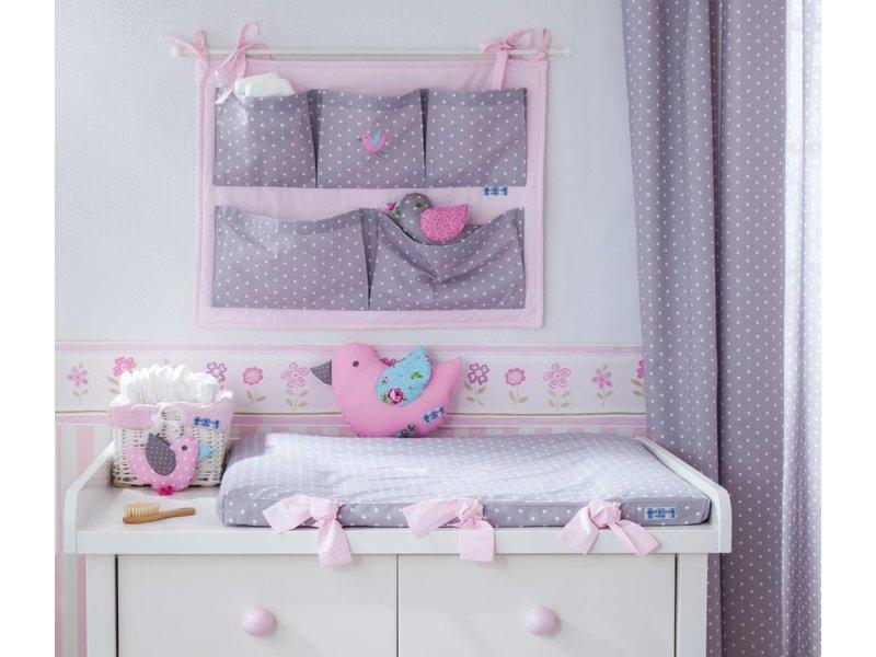 annette frank wickelauflage punkte taupe v gelchen www. Black Bedroom Furniture Sets. Home Design Ideas