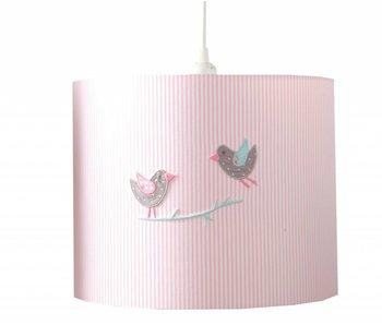 Annette Frank Hängelampe Vögelchen rosa