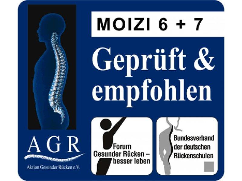Moizi Kufestuhl Moizi 7 weiß mit Holzrücken