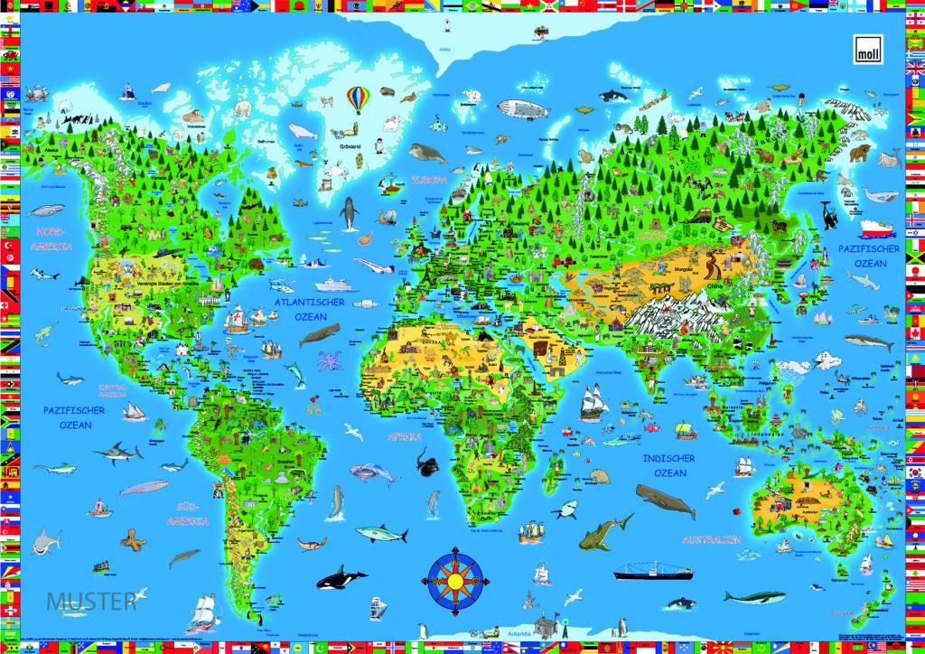 Foto Schreibunterlage moll schreibunterlage weltkarte - www.romy-kindermoebel.de