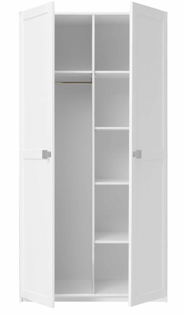 life time kleiderschrank mit 2 t ren in whitewash. Black Bedroom Furniture Sets. Home Design Ideas