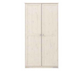 LIFETIME Kleiderschrank mit 2 Türen whitewash