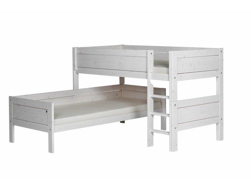 Etagenbett Leiter : Lifetime eck etagenbett mit gerader leiter in whitewash romy