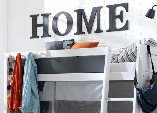 Etagenbett Leiter Abnehmbar : Lifetime etagenbett mit schräger leiter in weiß