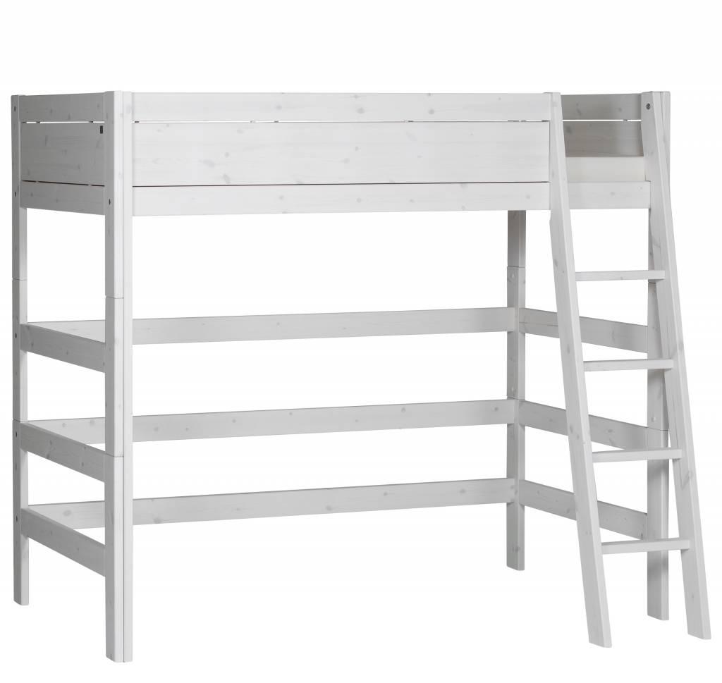 lifetime hochbett 90 x 200 mit schr ger leiter in whitewash. Black Bedroom Furniture Sets. Home Design Ideas