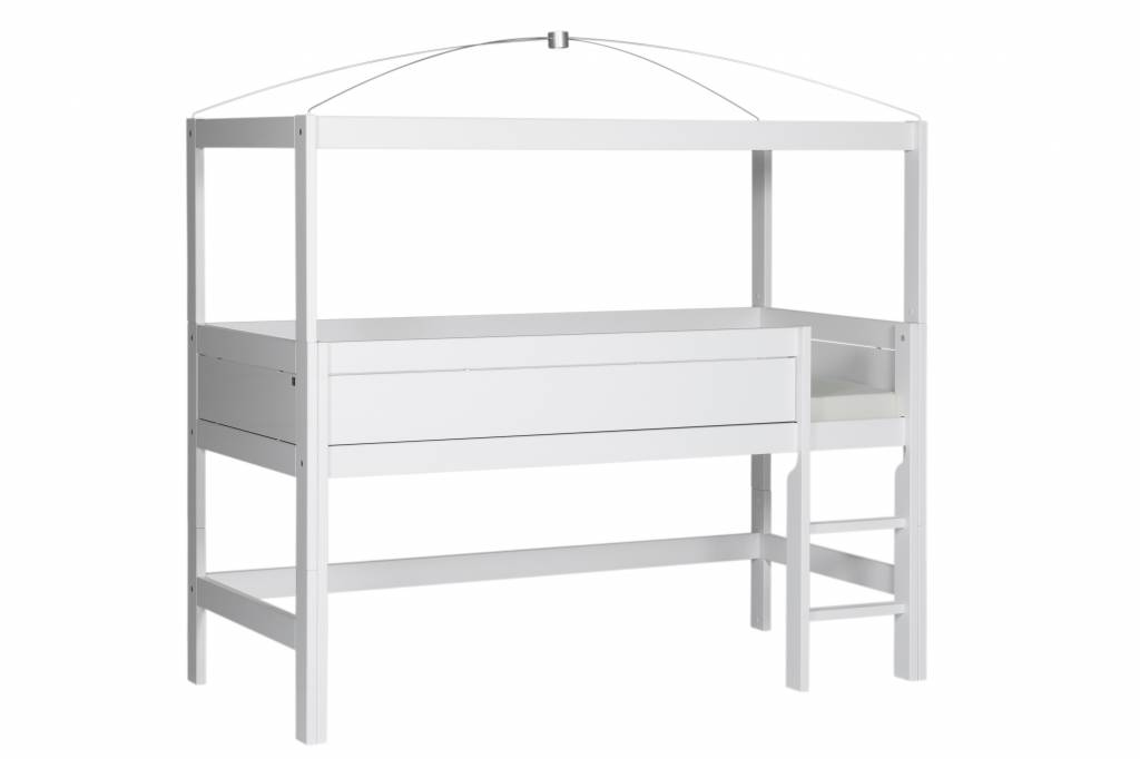 Etagenbett Himmel : Lifetime minihochbett mit himmelgestell in weiß
