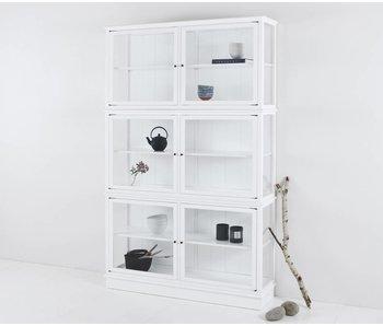 Oliver Furniture Schmaler Vitrinenschrank, weiß